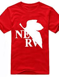Inspirado por NeonGenesis Evangelion Ayanami Rei Anime Fantasias de Cosplay Cosplay T-shirt Estampado Manga Curta Camiseta Para Unisexo