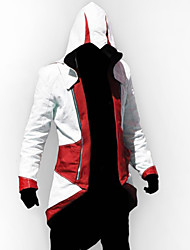 cheap -Inspired by Cosplay Video Game Assassinator Connor Jacket/Coat Cosplay Hoodie Cosplay Costumes Cosplay Suits Patchwork Long Sleeve Coat