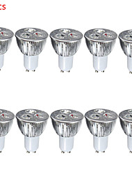 cheap -10pcs 4W GU10/E27 LED Spotlight 3 High Power LED 400lm Warm White Cold White Decorative AC85-265V