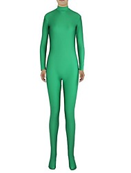 cheap -Zentai Suits Ninja Zentai Cosplay Costumes Green Solid Colored Leotard / Onesie Zentai Spandex Lycra Men's Women's Halloween