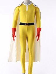 cheap -Inspired by One-Punch Man Cosplay Anime Cosplay Costumes Cosplay Suits Solid Leotard/Onesie Gloves Belt Cloak More Accessories For Men's