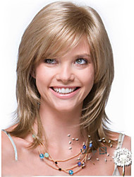 The New Europe and the United States Flax Gold Long Straight Hair Synthetic Wigs.