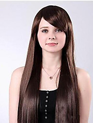 cheap -long straight hair fleeciness hairstyle inclined bang long hair