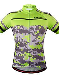 economico -WOSAWE Maglia da ciclismo Per donna Unisex Manica corta Bicicletta Felpa Maglietta/Maglia Top Asciugatura rapida Design anatomico