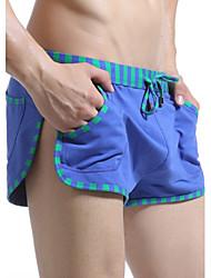 abordables -Shorts de Bain Pour des hommes Couleur Pleine / Rubans Coton / Nylon / Polyester