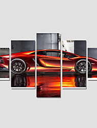 cheap -Canvas Print Art Set Of 5 Wall Pictures For Linving Room Abstract Car Pictures Home Decor