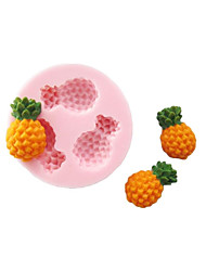 cheap -Three Holes Pineapple Fruit Silicone Mold Fondant Molds Sugar Craft Tools Chocolate Mould  For Cakes