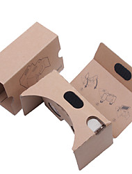 cheap -DIY  Cardboard Virtual Reality 3D Glasses VR Tookit(Upgraded version 34mm Lens)
