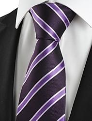 cheap -New Striped Purple Black Formal Men Tie Necktie Wedding Party Holiday Gift #1017