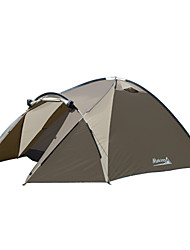 cheap -3 - 4 person Backpacking Tent / Family Tent Triple Poled Dome Camping Tent Outdoor Rain-Proof, Well-ventilated, Ultra Light (UL) for Fishing / Hiking / Beach 1000-1500 mm Polyester, Oxford, Aluminium