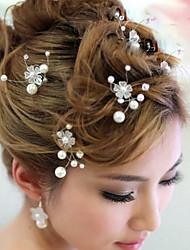 cheap -Pearl Hair Clip Hair Pin Headpiece Elegant Classical Feminine Style