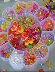 Big Plum Transparent Crystal Children's Diy Beads Knitting Toys Color Acrylic Beads Educational Bead
