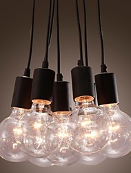 Modern Home 7 Head Edison Bulb Light Loft Glass Ball Living Room Pendant Light Dining Room Light