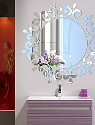 baratos -Autocolantes de Parede Decorativos / Autocolantes de Frigorífico / Autocolantes de Casamento - Autocolantes 3D para Parede Romance / Espelhos / Moda Sala de Estar / Quarto / Banheiro / Lavável