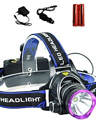 cheap -LS1792 Headlamps Headlight LED 2000 lm 3 Mode Cree XM-L T6 with Batteries and Chargers Zoomable Adjustable Focus Impact Resistant