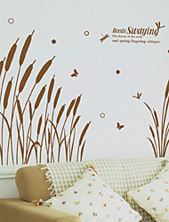 cheap -Wall Stickers Wall Decals Style Reed Grass PVC Wall Stickers