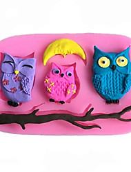 DIY Animal Owl Fondant Cake Chocolate Silicone Mold, Decoration Tools Bakeware SM-452