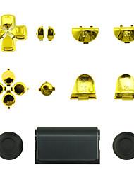 preiswerte -Ersatz-Controller Fall für PS4-Steuerung PS4 Fall Plattierung golden / silber