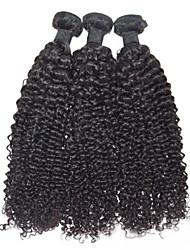 12inch Human Hair Extensions 100% Human Hair Indian Virgin Hair Weaves 3pieces/lot Natural Black Hair