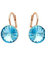 Boucles d'oreille goutte Cristal Zircon Alliage Simple Style Argent Or Rose Bijoux 2pcs