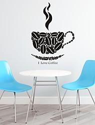 Palavras e Citações / Romance / Moda / Abstracto / Fantasia Wall Stickers Autocolantes de Aviões para Parede,PVC M:44*62cm/ L:57*83cm