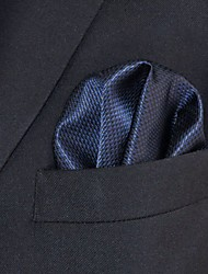 Недорогие -мужская работа случайный районный галстук карманные квадраты - твердый жаккард, основной