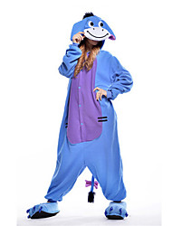 Kigurumi Pajamas New Cosplay® Donkey Leotard/Onesie Festival/Holiday Animal Sleepwear Halloween Blue Patchwork Polar Fleece Kigurumi For