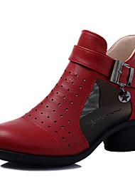 abordables -Femme Baskets de Danse / Chaussures Modernes Cuir Basket Fermeture Talon Cubain Non Personnalisables Chaussures de danse Noir / Rouge /