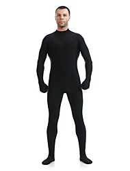 cheap -Zentai Suits Ninja Zentai Cosplay Costumes Black Solid Colored Leotard / Onesie Catsuit Zentai Spandex Lycra Men's Women's Halloween
