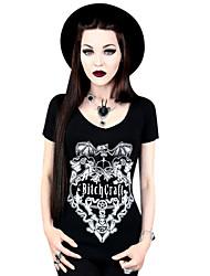 Top o camicia Lolita Classica e Tradizionale Cosplay Vestiti Lolita Nero Con stampe T-shirt Per Licra Terital