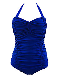Women's Straped One-piece Solid,Padded Bras One-Pieces Polyester Solid
