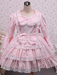 cheap -Princess Sweet Lolita Dress Lace Women's Dress Cosplay Long Sleeve Short Length Halloween Costumes