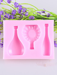 cheap -European Wine Bottle Glass Fondant Cake Chocolate Silicone Mold, Decoration Tools Bakeware