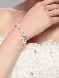 Bracelet chaîne femme argent / alliage strass style élégant
