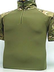 economico -T-shirt da caccia Per uomo Traspirante Ad alta capillarità Maglietta Top Manica corta per Campeggio e hiking Caccia Pesca Attività