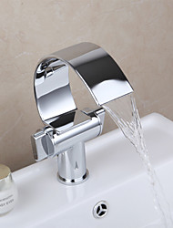 cheap -Contemporary Vessel Widespread Ceramic Valve One Hole Two Handles One Hole Chrome, Bathroom Sink Faucet