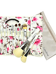 cheap -Flower Pattern Package Makeup Brush 12pcs/Set Cosmetic Beauty Care Makeup for Face