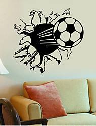 cheap -4047 Hot Sale Soccer Ball Football Vinyl Wall Decal Stickers for Kids Sport Boy Rooms Bedroom Art Wall Decor
