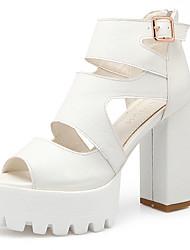 cheap -Women's Shoes Chunky Heel/Platform/Open Toe Sandals Party & Evening/Dress Black/Blue/Pink/White