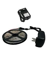 Z®zdm 5m 300x3528 smd luce bianca calda e connettore principale e ac110-240v a dc12v2a eu / us trasformatore