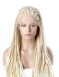 cheap -Women Synthetic Lace Front Wig Kinky Curly Blonde Halloween Wig Carnival Wig Costume Wig