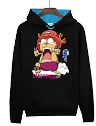 abordables -Inspirado por One Piece Monkey D. Luffy Animé Disfraces de cosplay sudaderas Cosplay Estampado Manga Larga Top Para Unisex