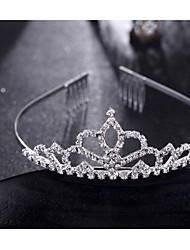 economico -copricapo d'ottone tiara festa nuziale elegante stile femminile classico