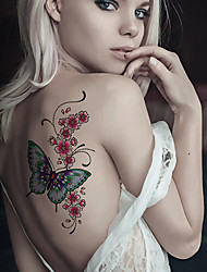 cheap -Fashion Large Temporary Tattoos Sexy Body Art Waterproof Tattoo Stickers Butterfly 2PCS