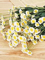 billige -Kunstige blomster 1 Afdeling Europæisk Stil Tusindfryd Bordblomst