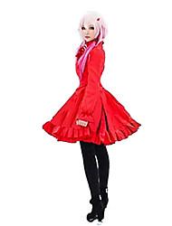 Inspirado por Guilty Crown Inori Yuzuriha Anime Fantasias de Cosplay Vestidos Cor Única Vestido Para Feminino