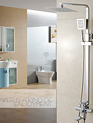 cheap -Shower Faucet - Contemporary Chrome Centerset Ceramic Valve