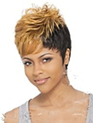 cheap -Synthetic Wig Curly Pixie Cut / With Bangs Synthetic Hair Blonde Wig Women's Short Capless