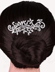 abordables -peinetas de perlas de cristal de plata para joyería de la señora banquete de boda