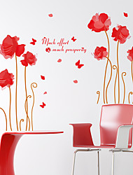 cheap -Romance Lotus Flower Wall Decals Fashion / Florals / Landscape Wall Stickers Plane Wall Stickers,pvc 60*90cm